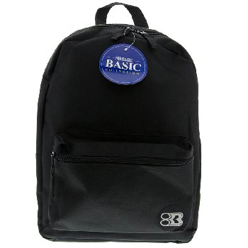 Black Basic Backpack 16""