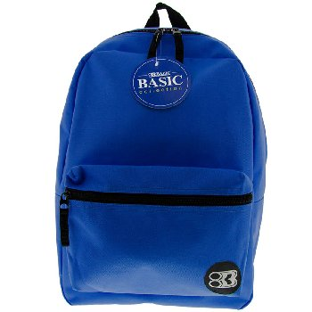 Blue Basic Backpack 16""