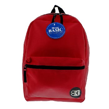 Burgundy Basic Backpack 16""
