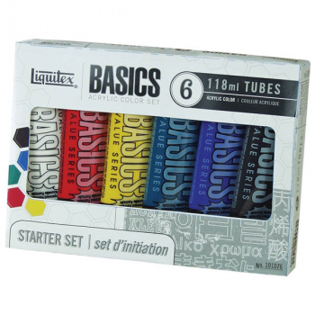Basics Acrylic Color Set (6 tubes)