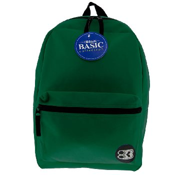 Green Basic Backpack 16""