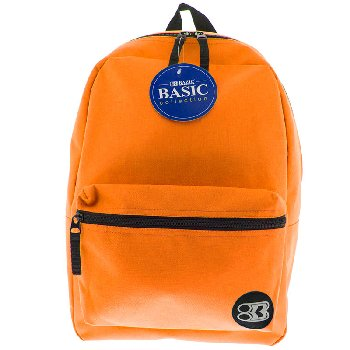 Orange Basic Backpack 16""