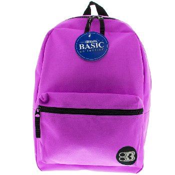 Purple Basic Backpack 16""