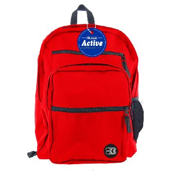 Red Active Backpack 17""