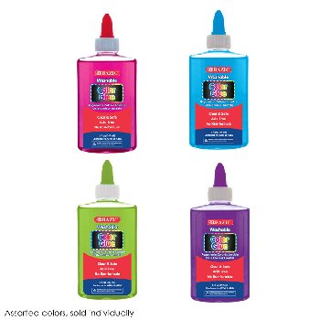 Washable Clear Color School Glue 5 oz. (assorted color)
