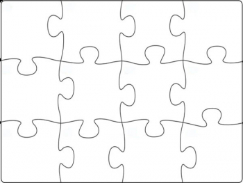Bare Blank Puzzle (12 piece)