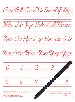 Traditional Cursive Write-on/Wipe-off Board