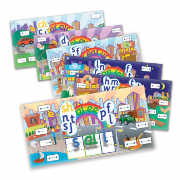 Rainbow Phonics Word City Magnetic Landscapes (Set 2)