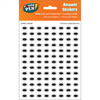 Power Pen Answer Stickers