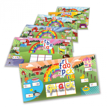 Rainbow Phonics Word Farm Magnetic Landscapes Set 1
