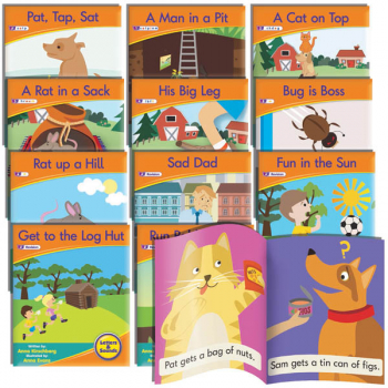 Decodable Readers: Fiction Phase 2 Letters (set of 12)