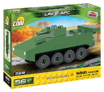 LAV III APC Light Armored Vehicle - 56 Pieces (Small Army Nano Miniature Vehicles)
