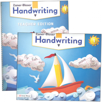 Zaner-Bloser Handwriting Grade 1 Home School Bundle - Student Edition/Teacher Edition (2020 edition)