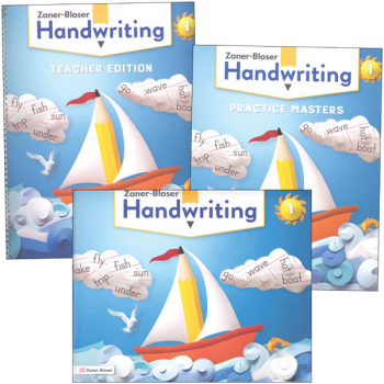 Zaner-Bloser Handwriting Grade 1 Homeschool Bundle - Student Edition/Teacher Edition/Practice Masters (2020 edition)