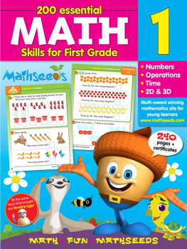 Mathseeds Math Workbook Grade 1