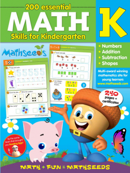 Mathseeds Math Workbook Grade K