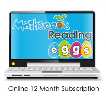 Reading Eggs and Mathseeds Online Family Plan Program : 12 month subscription - access for up to 4 children