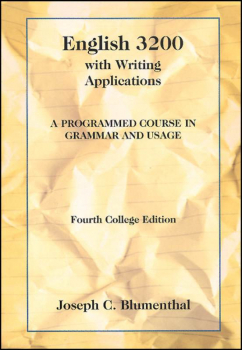 English 3200 Text with Writing Applications: A Programmed Course in Grammar and Usage