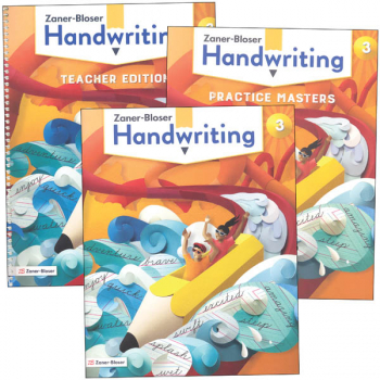 Zaner-Bloser Handwriting Grade 3 Homeschool Bundle - Student Edition/Teacher Edition/Practice Masters (2020 edition)