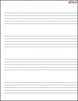Music Staff Paper Wipe-Off Chart