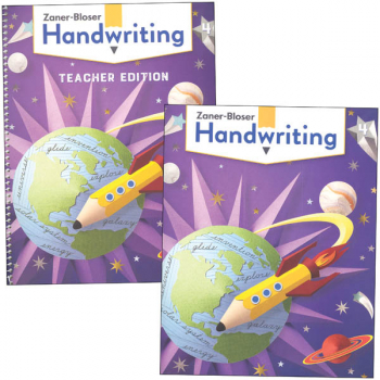 Zaner-Bloser Handwriting Grade 4 Home School Bundle - Student Edition/Teacher Edition (2020 edition)
