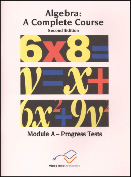 Algebra Module A Progress Tests