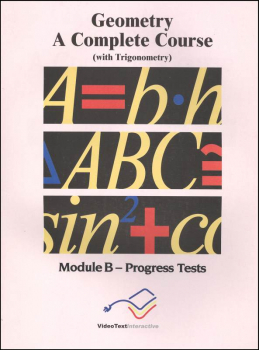 Geometry Module B Progress Tests