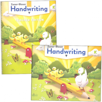Zaner-Bloser Handwriting Grade K Home School Bundle - Student Edition/Teacher Edition (2020 edition)
