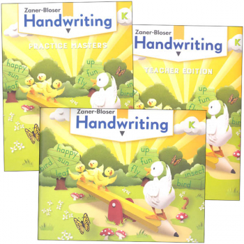 Zaner-Bloser Handwriting Grade K Homeschool Bundle - Student Edition/Teacher Edition/Practice Masters (2020 edition)