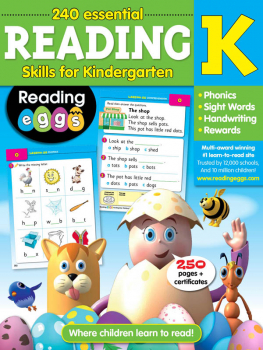 Reading Eggs Reading Workbook Grade K