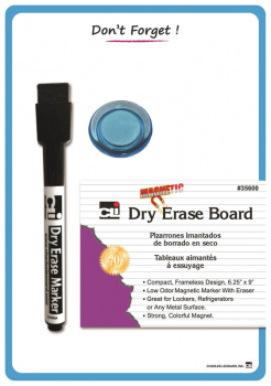 "Magnetic ""Don?t Forget"" Whiteboard 6.25"" x 9"" with Magnetic Marker/Eraser & Magnet"