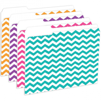 File Folders, Reversible, Chevron Assortment (package of 12)