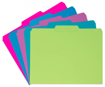 File Folders Solid Color - Galactic Assorted (package of 10)