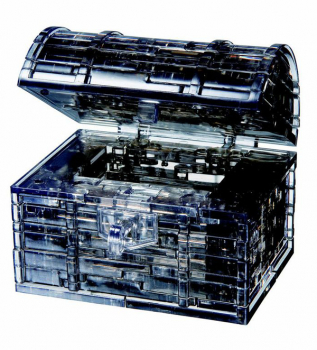 3D Crystal Puzzle - Black Treasure Chest