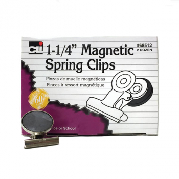 "Magnetic Spring Clips 1 1/4"" (Box of 24)"