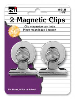 "Magnetic Spring Clips 1 1/4"" (Set of 2)"