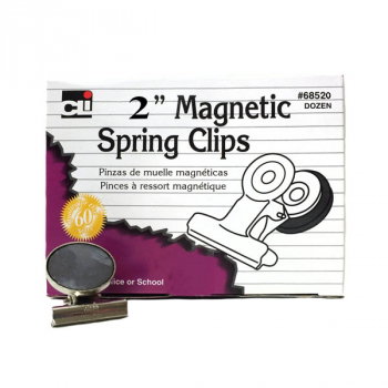 "Magnetic Spring Clips 2"" (Box of 12)"