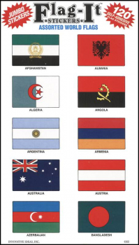 Flag-It World Stickers (120 Assorted)