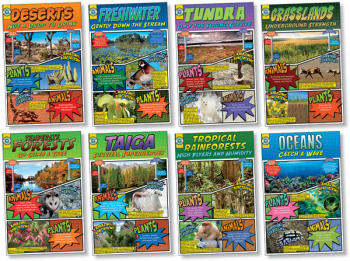 "Biomes Posters set of 8 (11"" x 17"")"