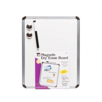 "Magnetic Whiteboard with Silver Frame (11"" x 14"")"