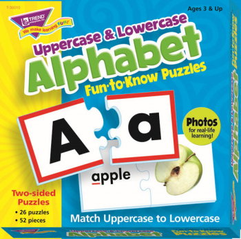 Uppercase & Lowercase Alphabet Fun-to-Know Puzzles