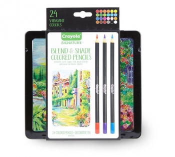 Crayola Signature Blend & Shade Colored Pencils in Tin (24 count)