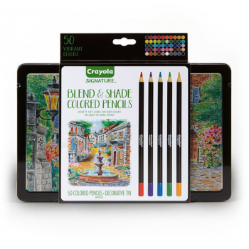 Crayola Signature Blend & Shade Colored Pencils in Tin (50 count)