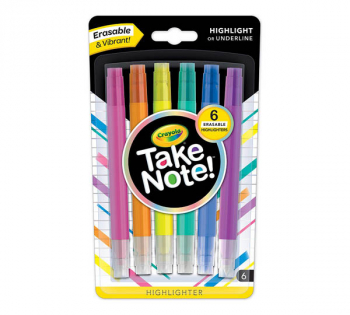 Crayola Take Note! Erasable Highlighters (6 count)