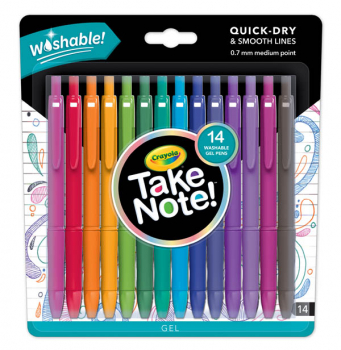 Crayola Take Note! Washable Gel Pens (14 count)