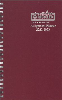 Student Assignment Planner Burgundy Leatherette August 2020 - August 2021
