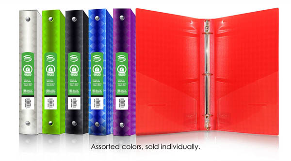 "Binder - 3-Ring Diamond 1"" (assorted colors)"