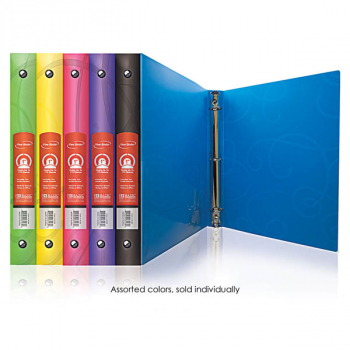 "Binder - 3-Ring Swirl 1"" (assorted colors)"