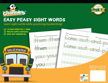 Easy Peasy Sight Words Workbook (Channie's Handwriting)