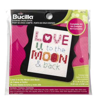 Beginner Mini Stitchery Kit - Love U to the Moon & Back